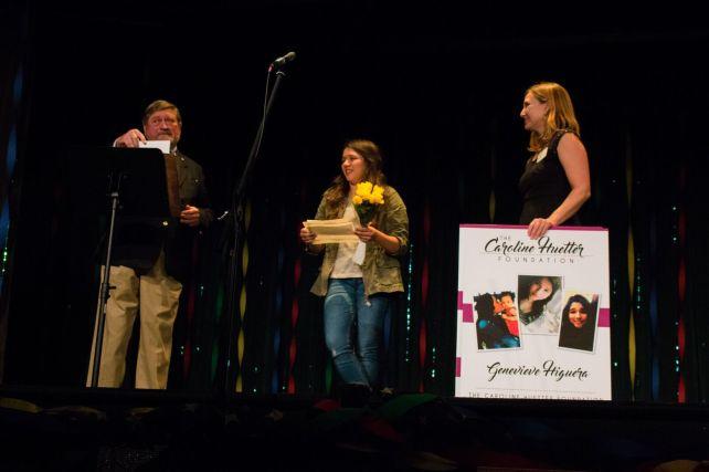 Genevieve Higuera receives her award